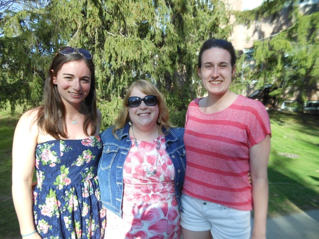 Professor Williamson with students at the picnic spring 2015