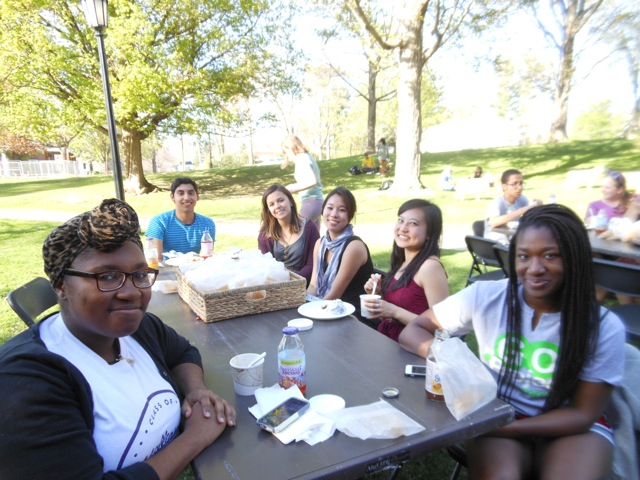 Students at the Psychology Dept. picnic spring 2015