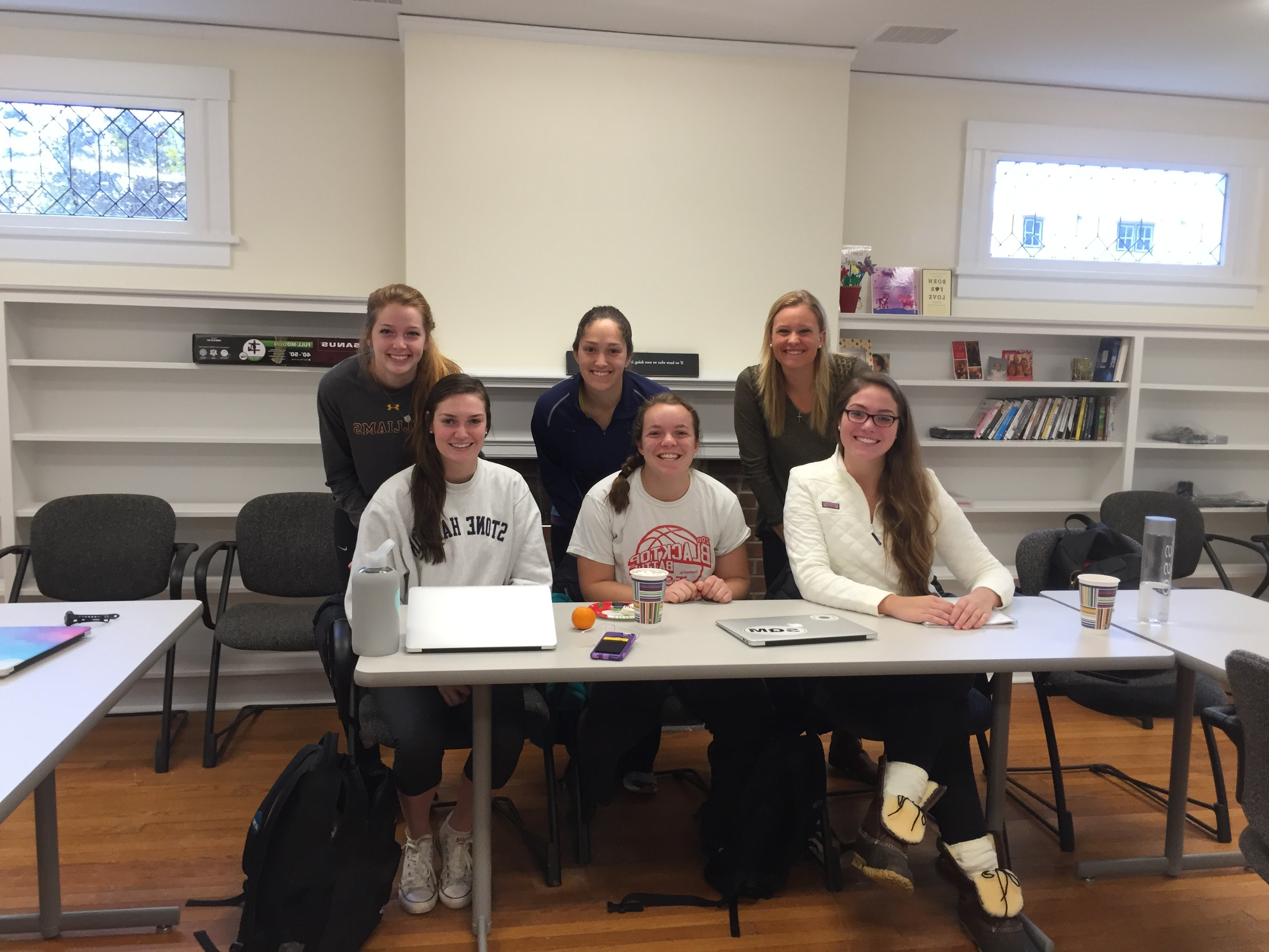 Students in Prof. Hane's Early Experience class